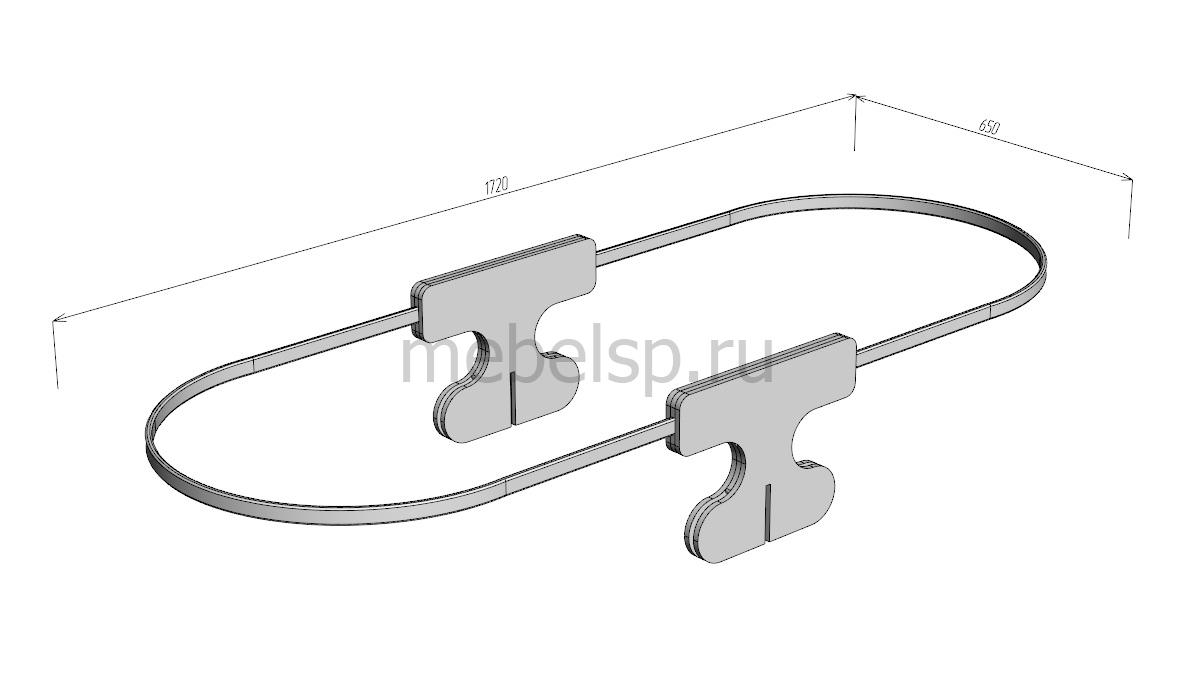 Комплект №2 штор с шторкодержателями (рейками и опорами)